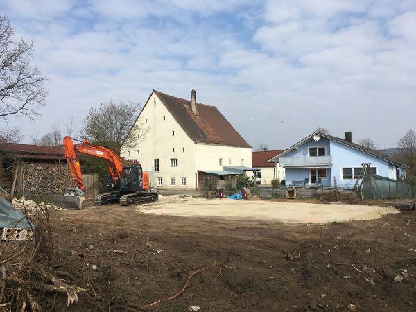 Fertiger Unterbau des Baugrunds für die Bodenplatte