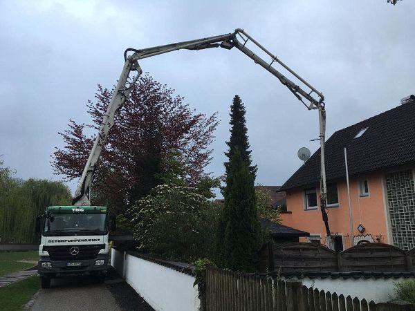 Aufbau der Betonpumpe