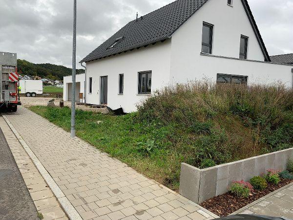 Ansicht auf die Baustelle ohne Außenanlagen