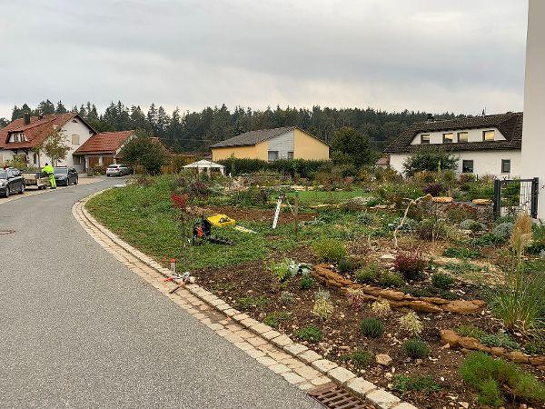 Bestehender Garten ohne Gartenzaun