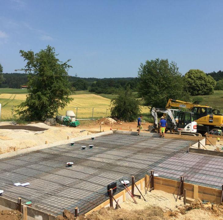 Bodenplatte für ein EFH mit rund 150 m²
